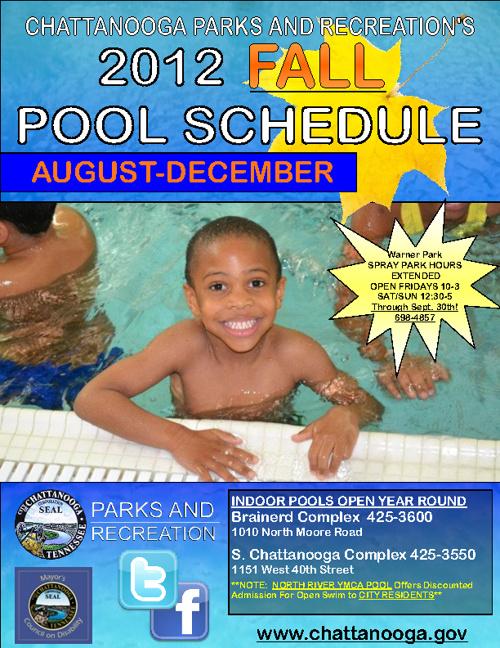 2012 Fall Pool Schedule!