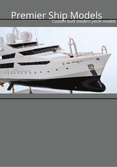 Modern and Super Yacht Model Boats