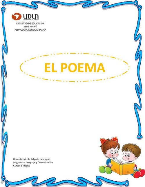 Lenguaje 2° Básico El poema OK