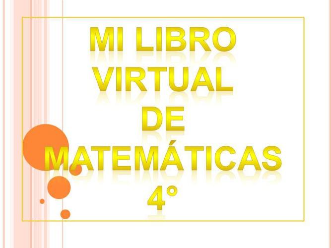 MI LIBRO VIRTUAL DE MATEMATICAS