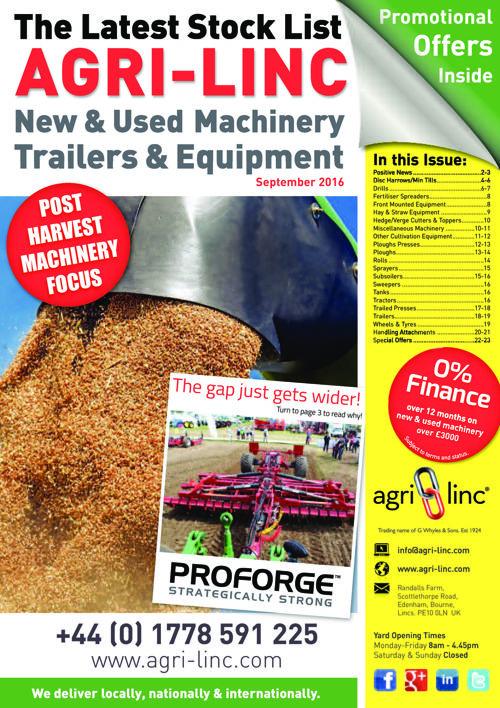 Agri-Linc Farming Machinery Bumper Suplement Sept'16