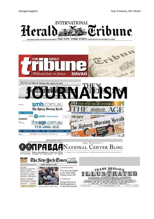 JOURNALISM Georgia Angelini