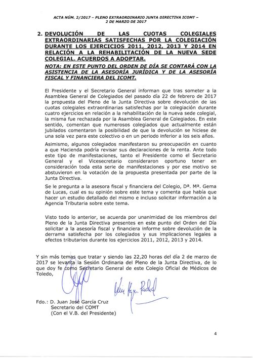 Acuerdo devolucion cuotas