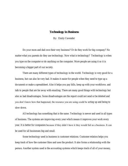 Technology Report pdf