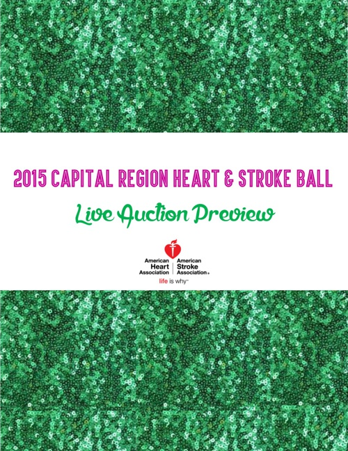 2015 Capital Region Heart and Stroke Ball Live Auction Preview