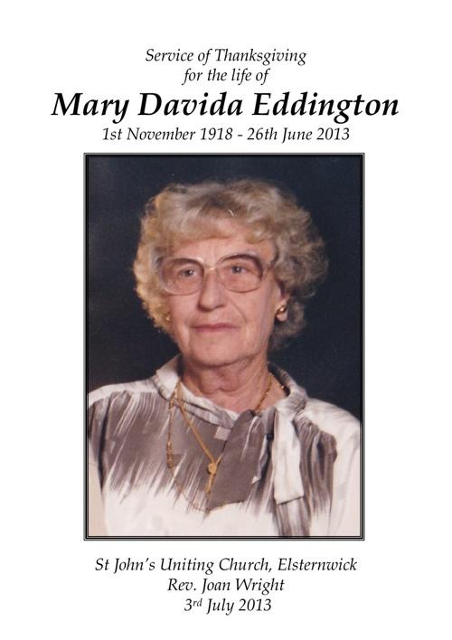 Mary Eddington