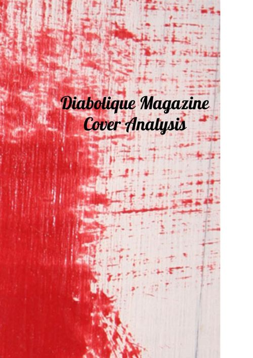 Diabolique Magazine Cover Analysis