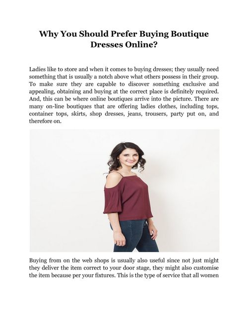 Why You Should Prefer Buying Boutique Dresses Online