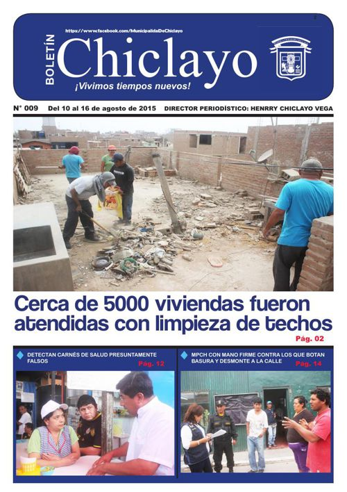 """Boletín """"Chiclayo"""" - N° 009"""