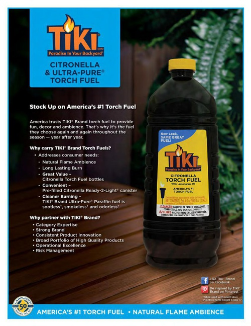 2015 - TIKI® Citronella, Color Flame™ & Ultra-Pure