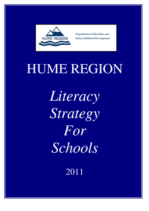 Hume Region Literacy Strategy for Schools