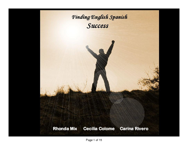 Finding English Spanish Success