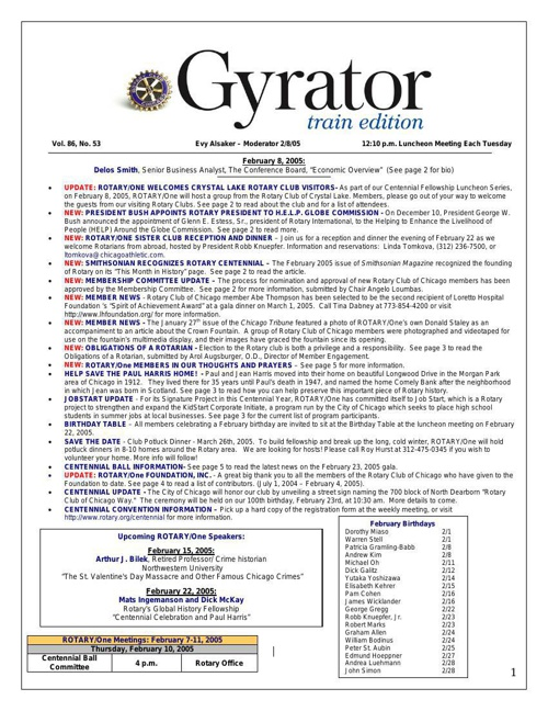 Gyrators - January to June 2005