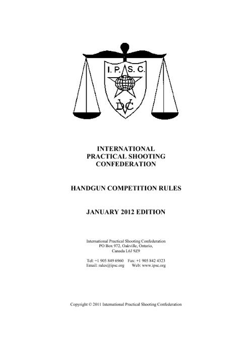 2012 handgun rule book