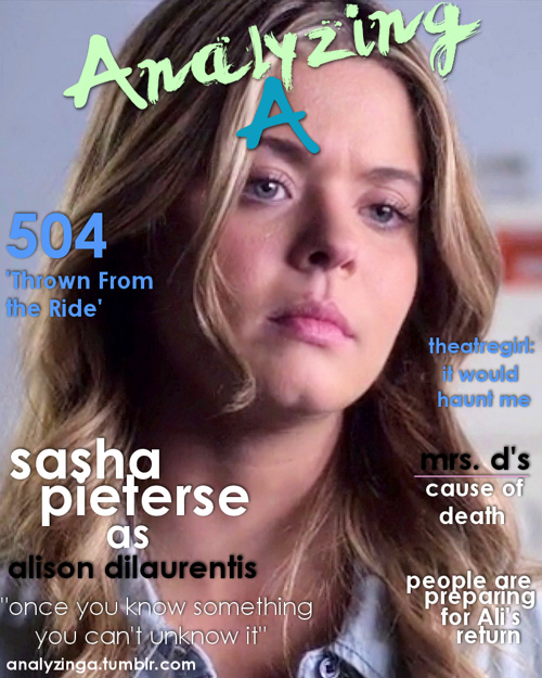 504 Thrown From the Ride, Alison DiLaurentis