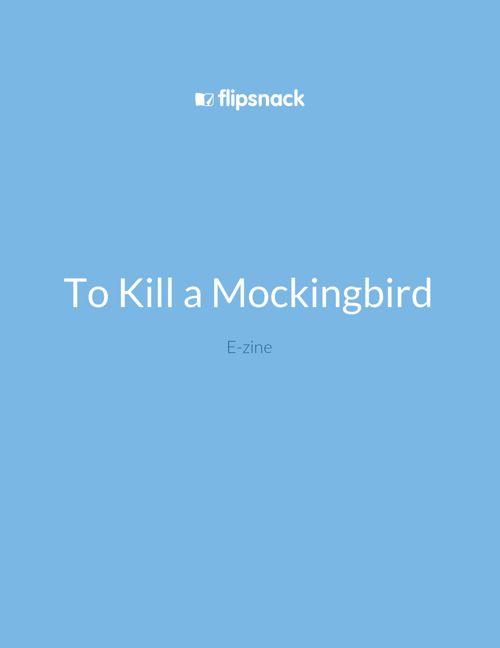 To Kill a Mockingbird E-zine