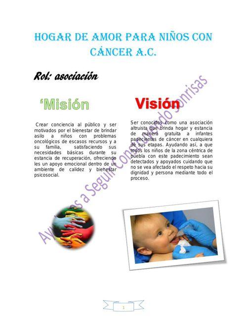 Hogar de amor para niños con cáncer A logooo word