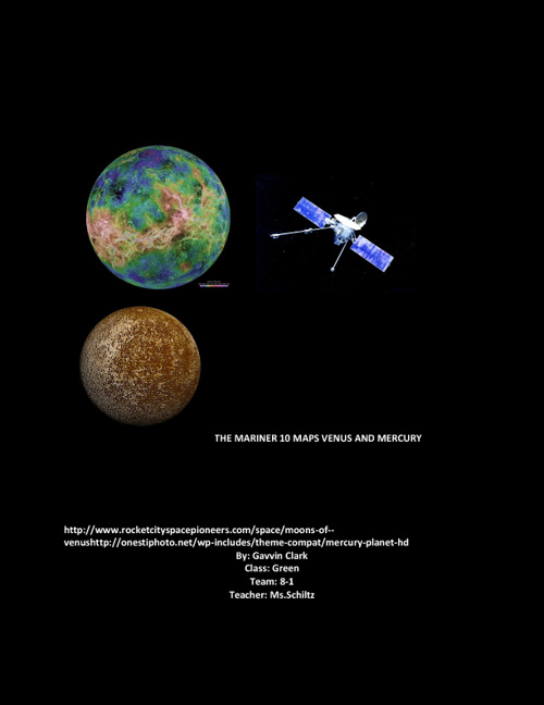 Mariner 10 maps Venus and Mercury