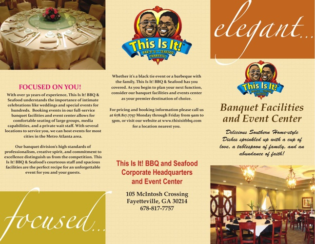 This Is It! Banquet Flyer