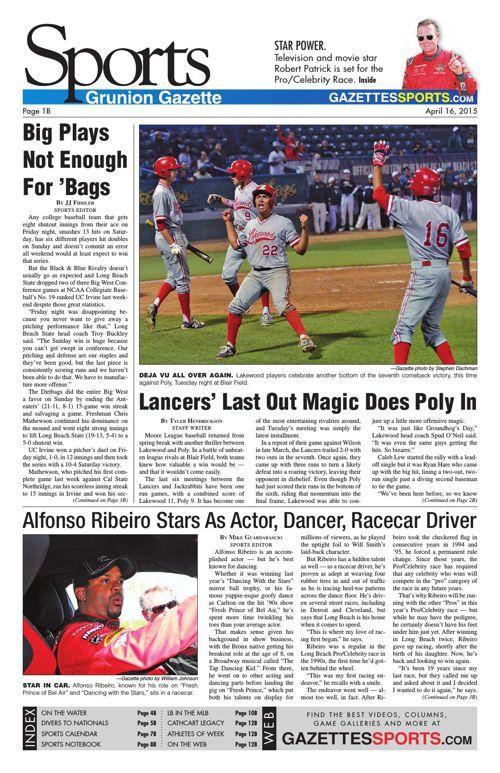 Gazette Sports | April 16, 2015