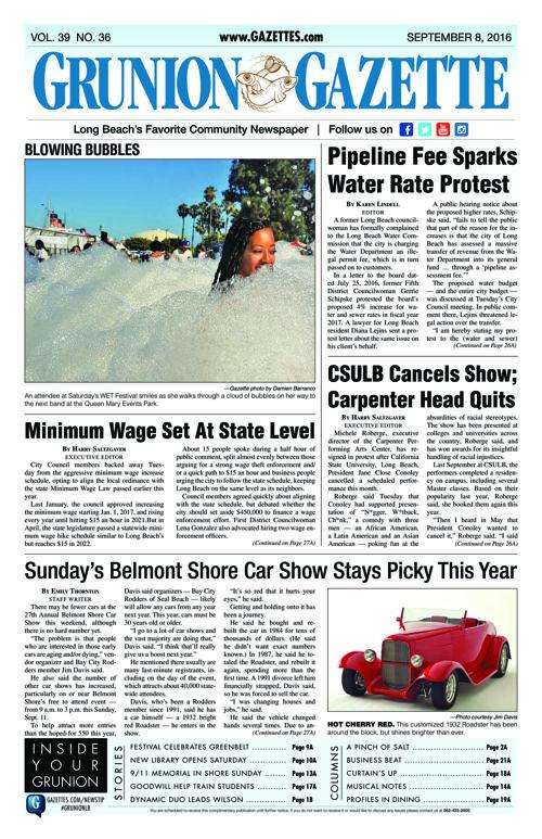 Grunion Gazette | September 8, 2016