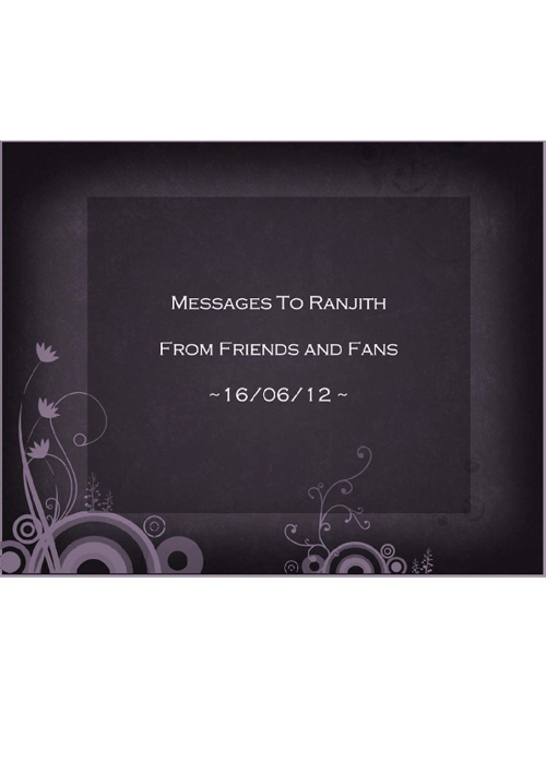 Messages To Ranjith