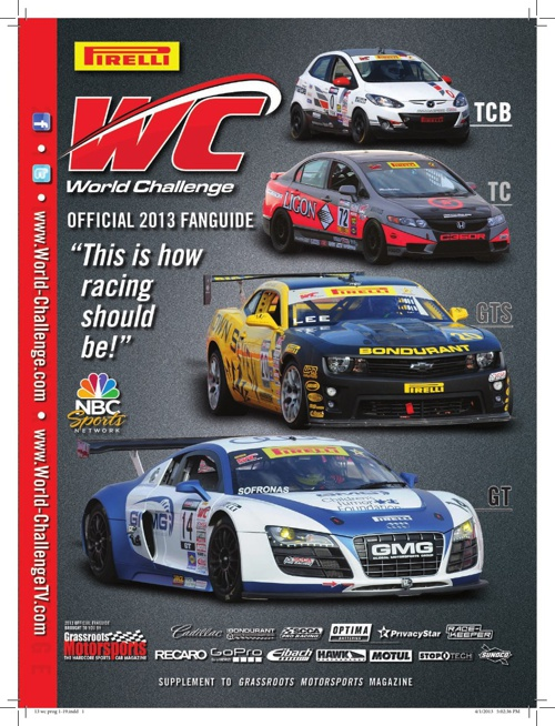 2013 Pirelli World Challenge Fan Guide