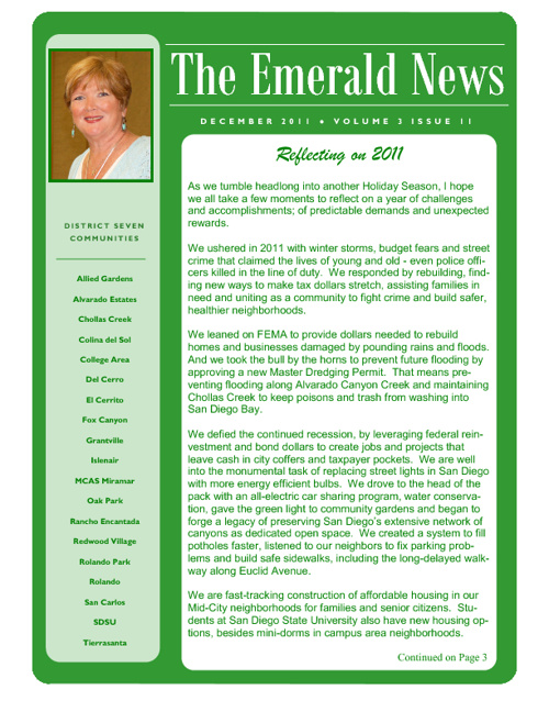 The Emerald News: Volume 3, Issue 12 (December 2011)