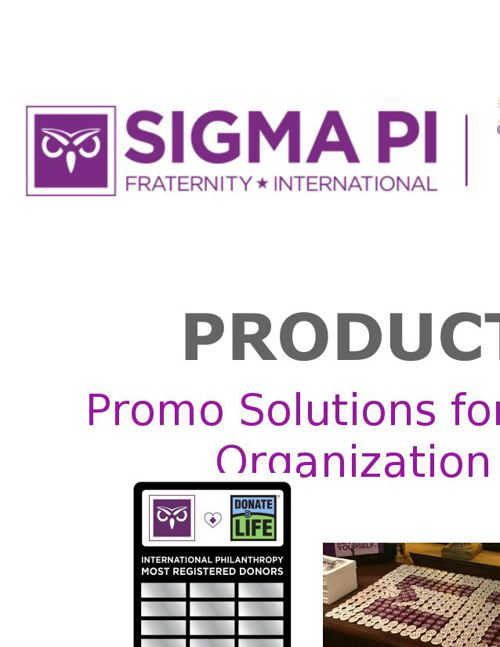 Sigma Pi Product Store