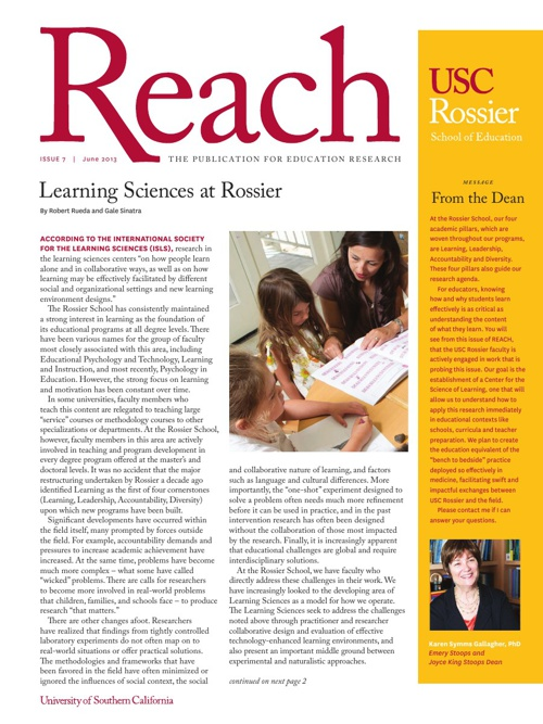 June 2013 Rossier Reach