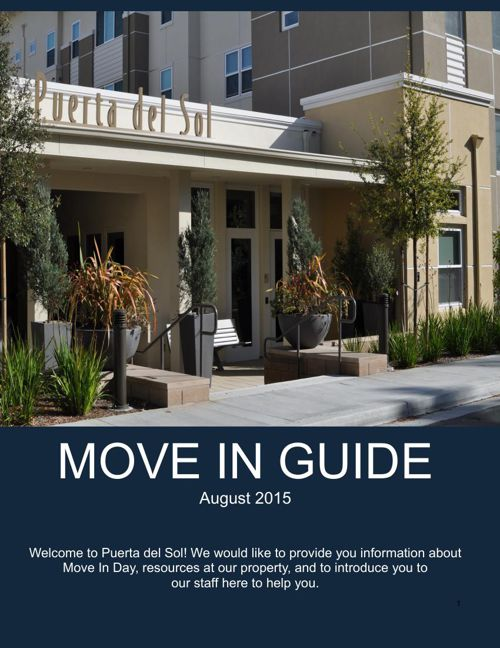 Puerta Move In Guide - August 2015