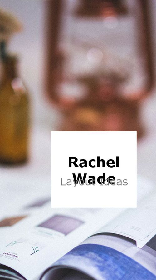 Rachel Wade Website Design Layout