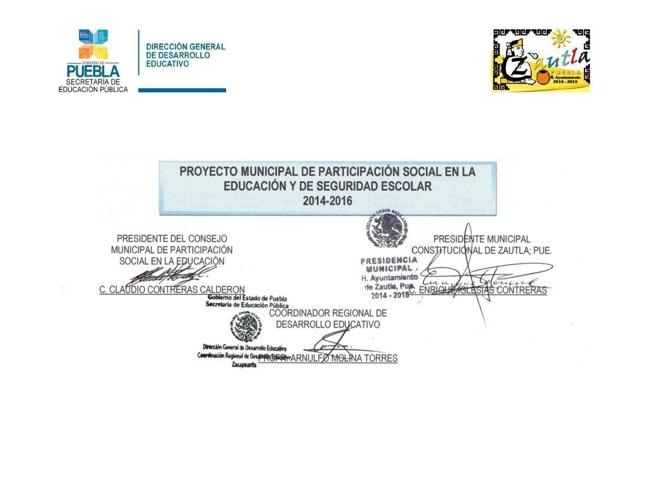 Proyecto Municipal de Participación Social en la Educación y Seg