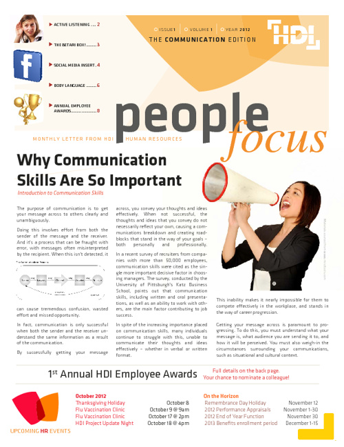 Copy of HDI People Focus | The Communication Edition (Sept 2012)