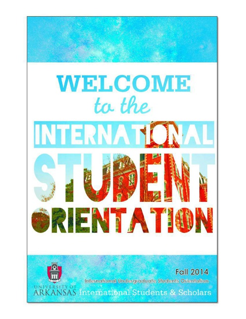 Fall 2014 UGRD Orientation Schedule Booklet
