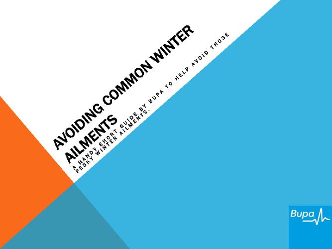 Avoiding Common Winter Ailments