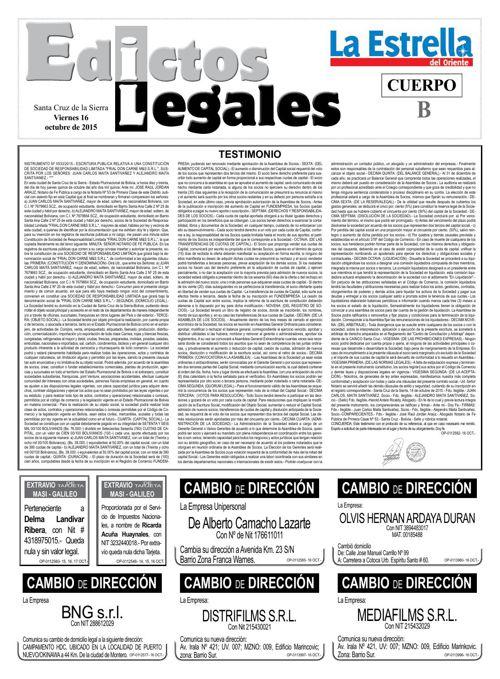 Judiciales 16 viernes - octubre 2015
