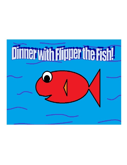 Dinner with Flipper the Fish