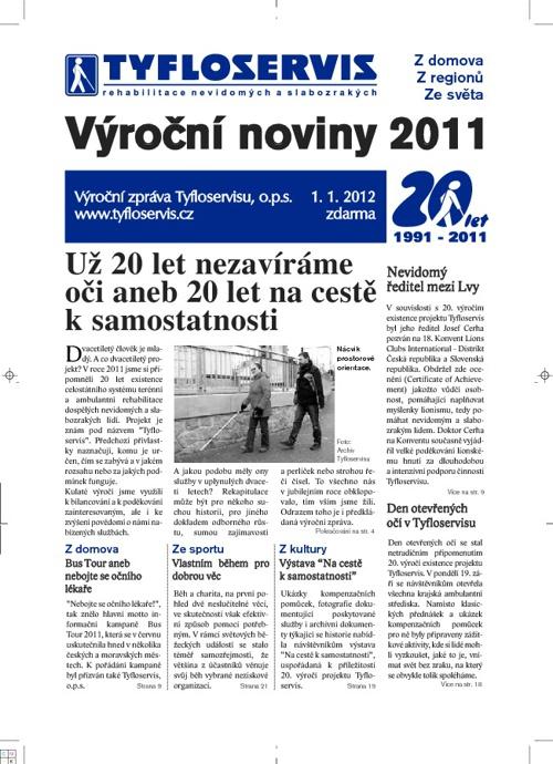 Výroční noviny 2011