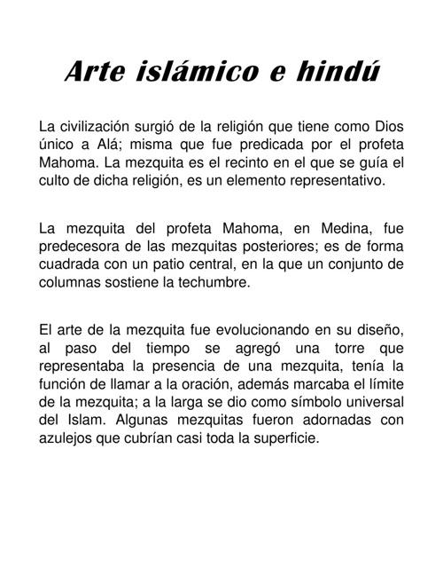 Arte islámico e hindú