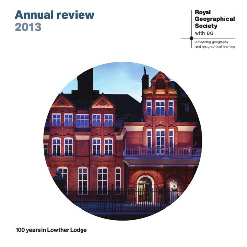 Royal Geographical Society (with IBG) Annual Review 2014