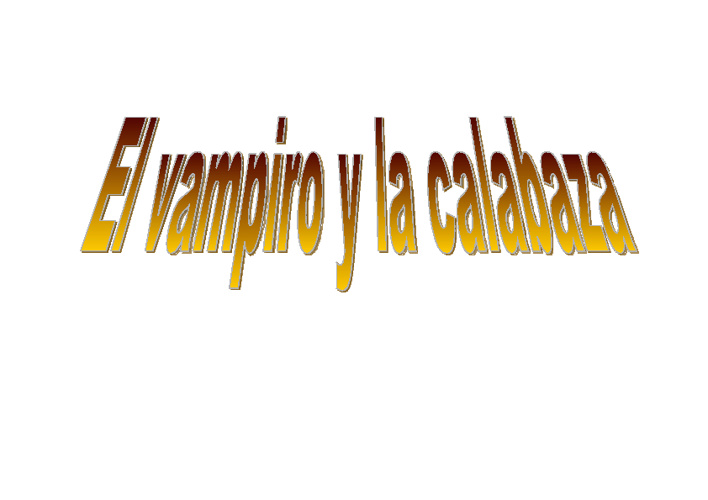 EL VAMPIRO Y LA CALABAZA