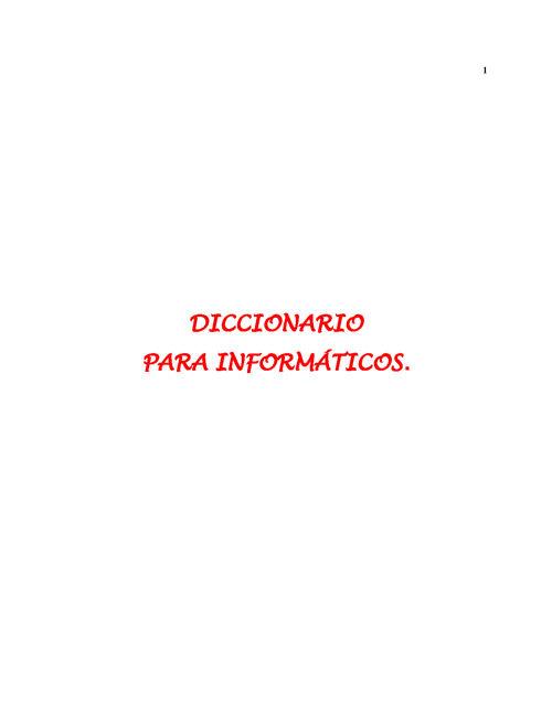 Diccionario Para InFormaticos