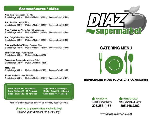 diaz menu
