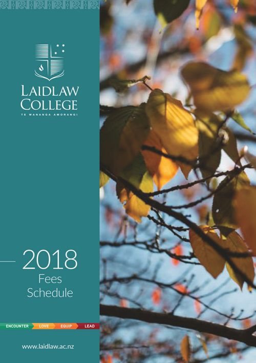 Fees Schedule 2018