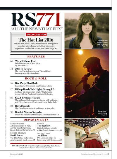 Rolling Stone Australia, February 2016