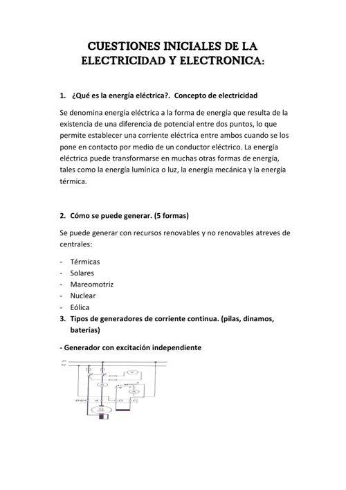 CUESTIONES INICIALES DE LA ELECTRICIDAD Y ELECTRONICA