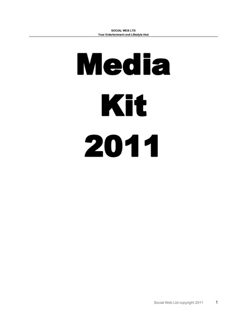 Copy of Social Web Media Kit 2011/2012