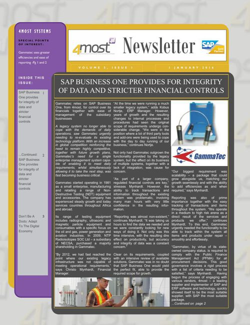 4most January 2016 Newsletter