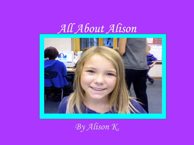 All About Alison